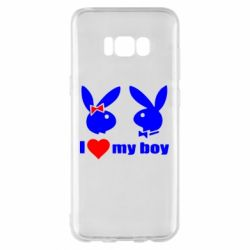 Чехол для Samsung S8+ I love my boy - FatLine