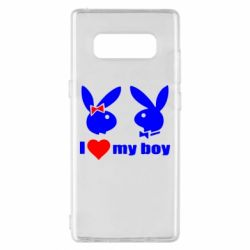 Чехол для Samsung Note 8 I love my boy - FatLine
