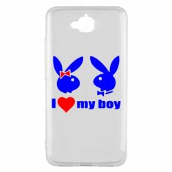 Чехол для Huawei Y6 Pro I love my boy - FatLine