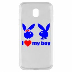 Чехол для Samsung J3 2017 I love my boy - FatLine