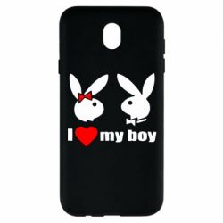 Чехол для Samsung J7 2017 I love my boy - FatLine