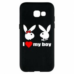 Чехол для Samsung A5 2017 I love my boy - FatLine