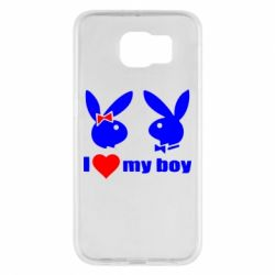 Чехол для Samsung S6 I love my boy - FatLine