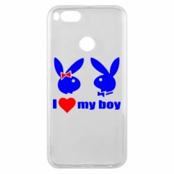Чехол для Xiaomi Mi A1 I love my boy - FatLine