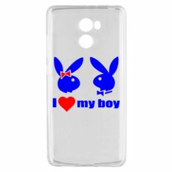 Чехол для Xiaomi Redmi 4 I love my boy - FatLine