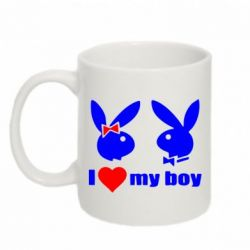 Кружка 320ml I love my boy - FatLine
