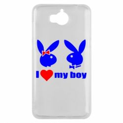 Чехол для Huawei Y5 2017 I love my boy - FatLine