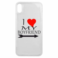 Чехол для iPhone Xs Max I love my boyfriend
