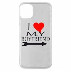 Чехол для iPhone 11 Pro I love my boyfriend