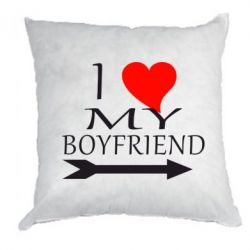Подушка I love my boyfriend - FatLine