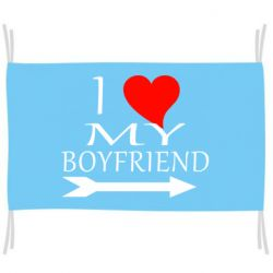 Флаг I love my boyfriend