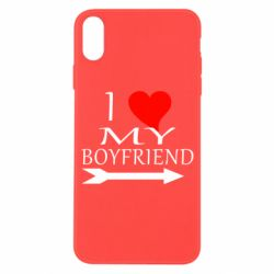 Чехол для iPhone X/Xs I love my boyfriend