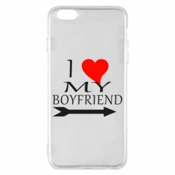 Чехол для iPhone 6 Plus/6S Plus I love my boyfriend