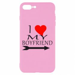 Чехол для iPhone 8 Plus I love my boyfriend
