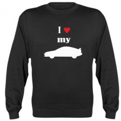 Реглан (свитшот) I love my car - FatLine