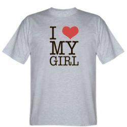 Мужская футболка I love my girl