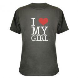 Камуфляжная футболка I love my girl