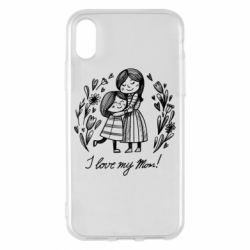 Чохол для iPhone X/Xs I love my mom