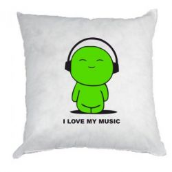 Подушка I love my music - FatLine