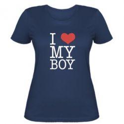 Женская футболка I love my - FatLine