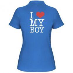 Женская футболка поло I love my - FatLine