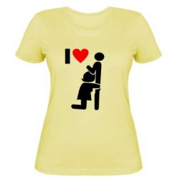 Жіноча футболка I love oral