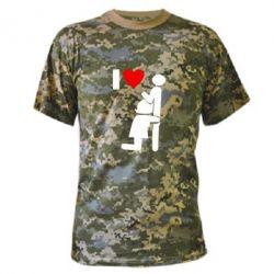 Камуфляжная футболка I love oral - FatLine