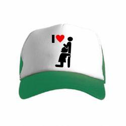 Дитяча кепка-тракер I love oral