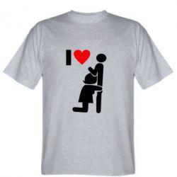 Чоловіча футболка I love oral