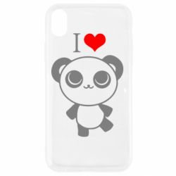 Чохол для iPhone XR I love Panda
