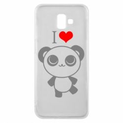Чохол для Samsung J6 Plus 2018 I love Panda