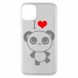 Чохол для iPhone 11 Pro I love Panda