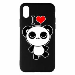 Чохол для iPhone X/Xs I love Panda