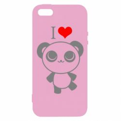 Чохол для iphone 5/5S/SE I love Panda
