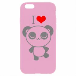 Чохол для iPhone 6/6S I love Panda