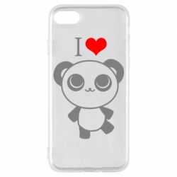 Чохол для iPhone 7 I love Panda