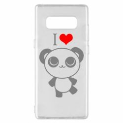Чохол для Samsung Note 8 I love Panda