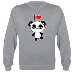 Реглан (свитшот) I love Panda - FatLine