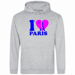 Толстовка I love Paris - FatLine