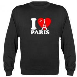 Реглан (свитшот) I love Paris - FatLine