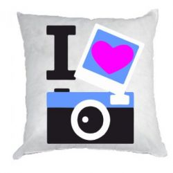 Подушка I love photo - FatLine