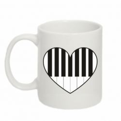 Кружка 320ml I love piano - FatLine