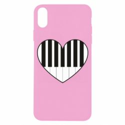 Чехол для iPhone X/Xs I love piano - FatLine