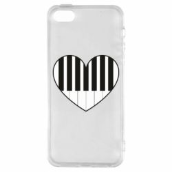 Чехол для iPhone5/5S/SE I love piano - FatLine