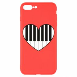 Чехол для iPhone 8 Plus I love piano - FatLine
