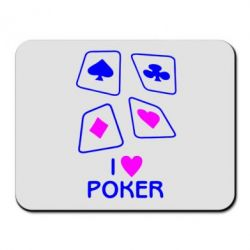 Коврик для мыши I love poker - FatLine