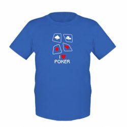 Детская футболка I love poker