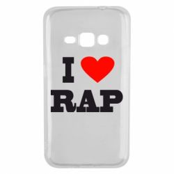 Чехол для Samsung J1 2016 I love rap
