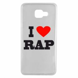 Чехол для Samsung A7 2016 I love rap