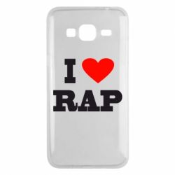 Чехол для Samsung J3 2016 I love rap